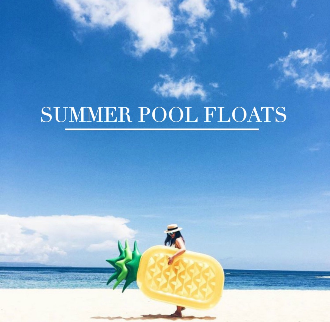 Chicago fashion blogger Happily Inspired is rounding up her favorite summer pool floats! Cute ice-cream pool float, pineapple pool float and more!