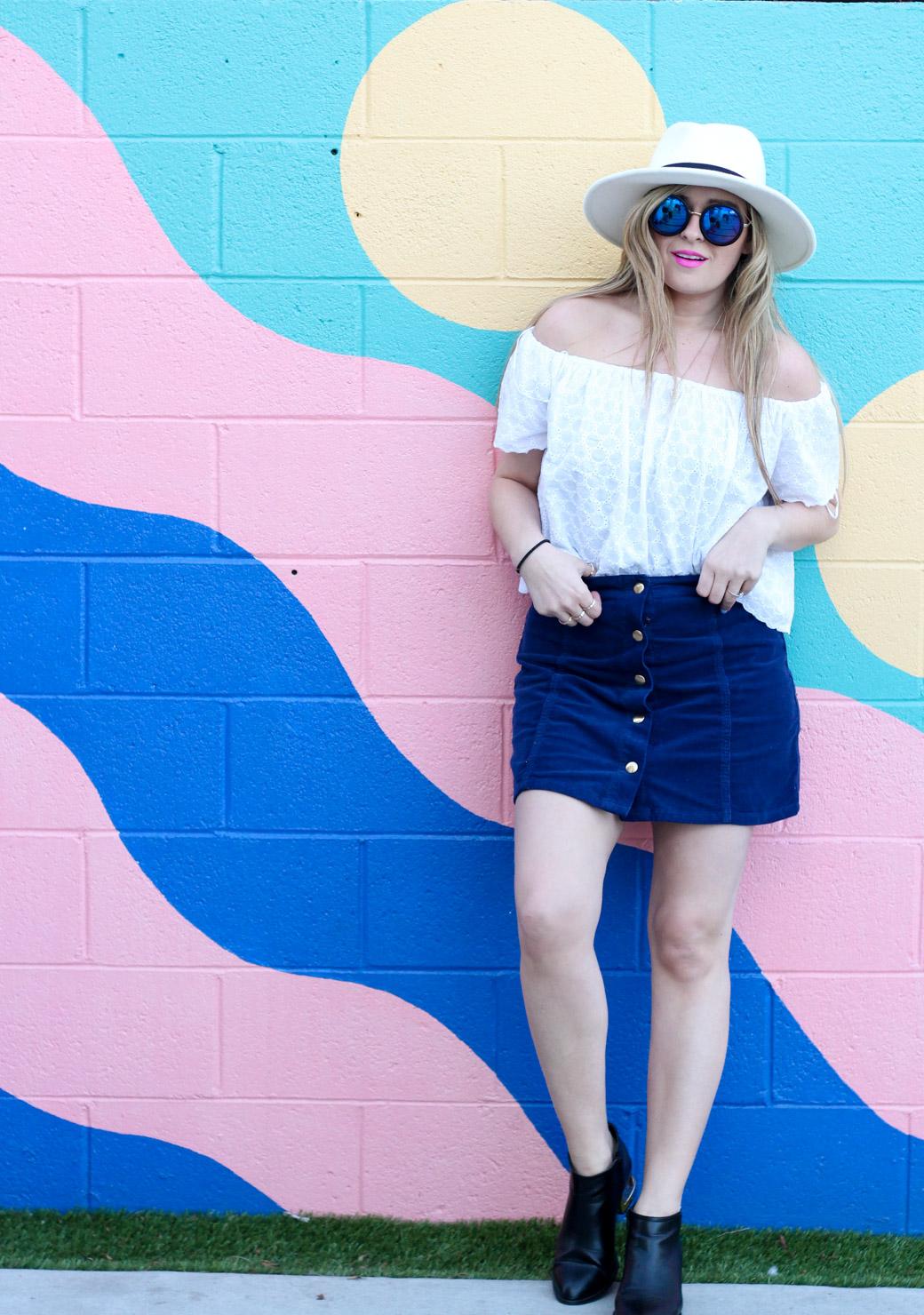 cheap corduroy skirt