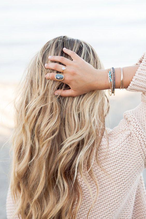 cute beach wave hair