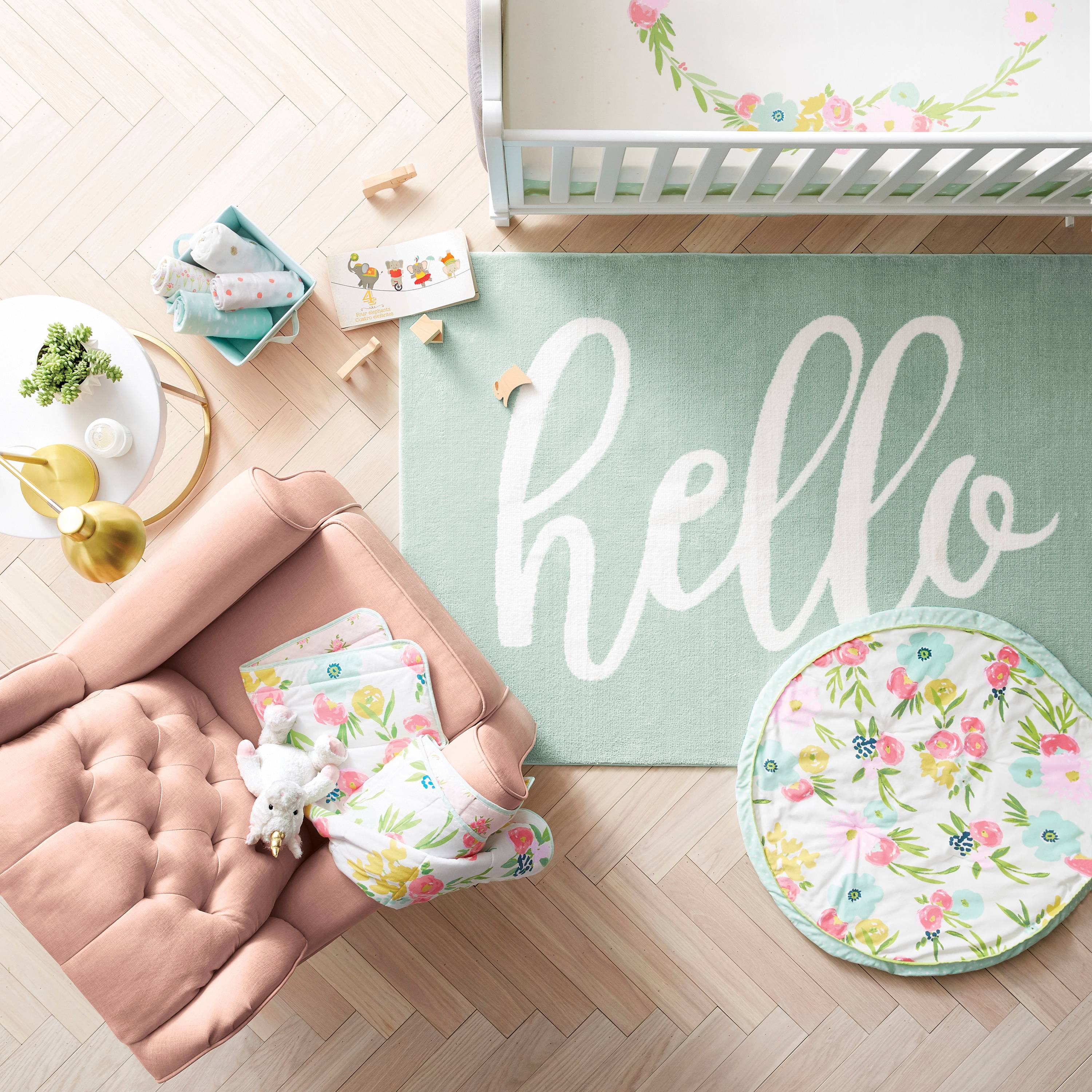 Chicago lifestyle blogger Happily Inspired shares Target's new nursery collection: cloud island is a crowd pleaser. Floral fields to desert dreams.