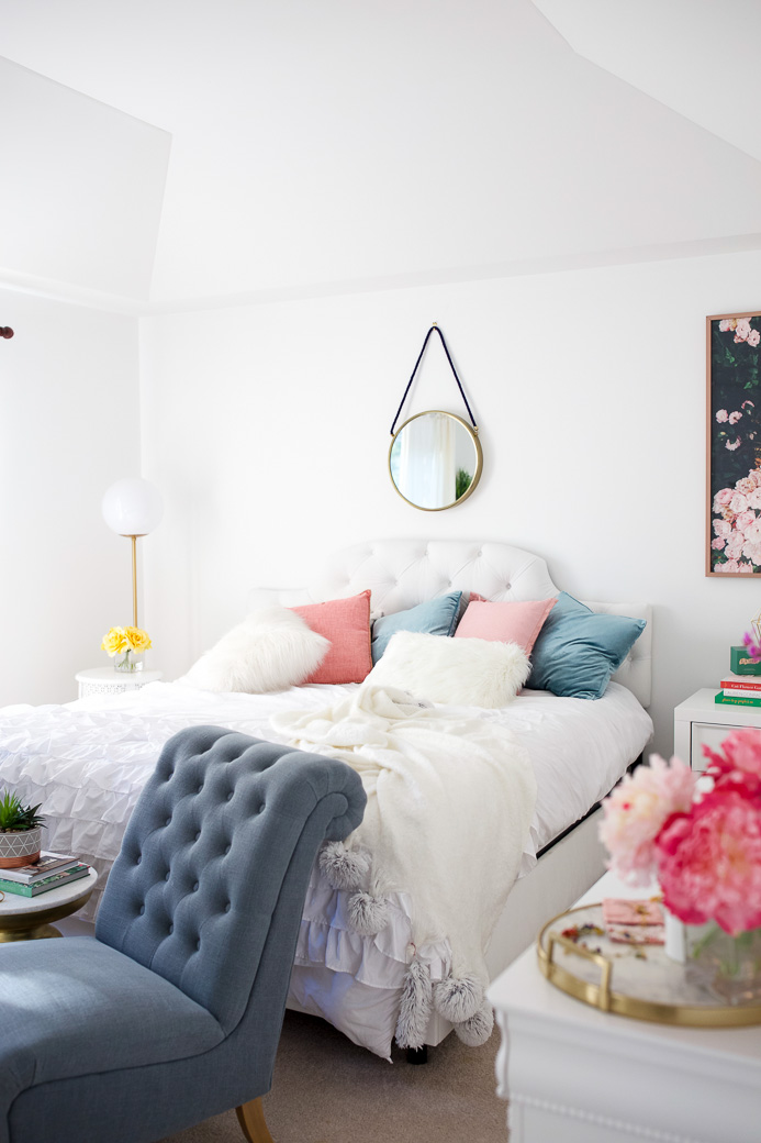 Who else loves a great bedroom makeover? Chicago Lifestyle Blogger Happily Inspired is sharing her chic bedroom makeover. See it here!