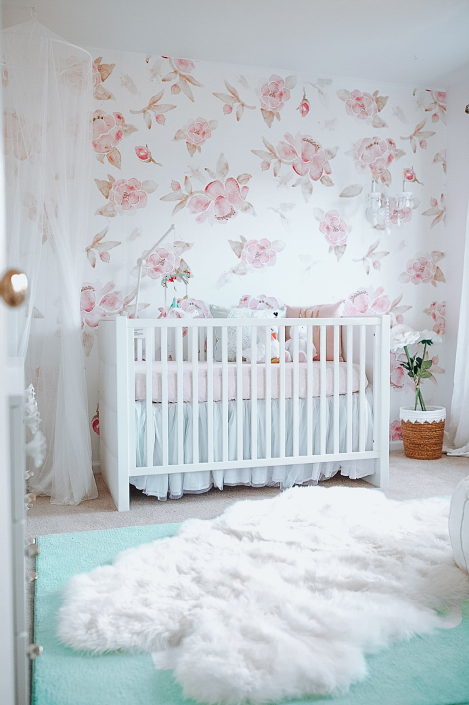 floral wallpaper nursery
