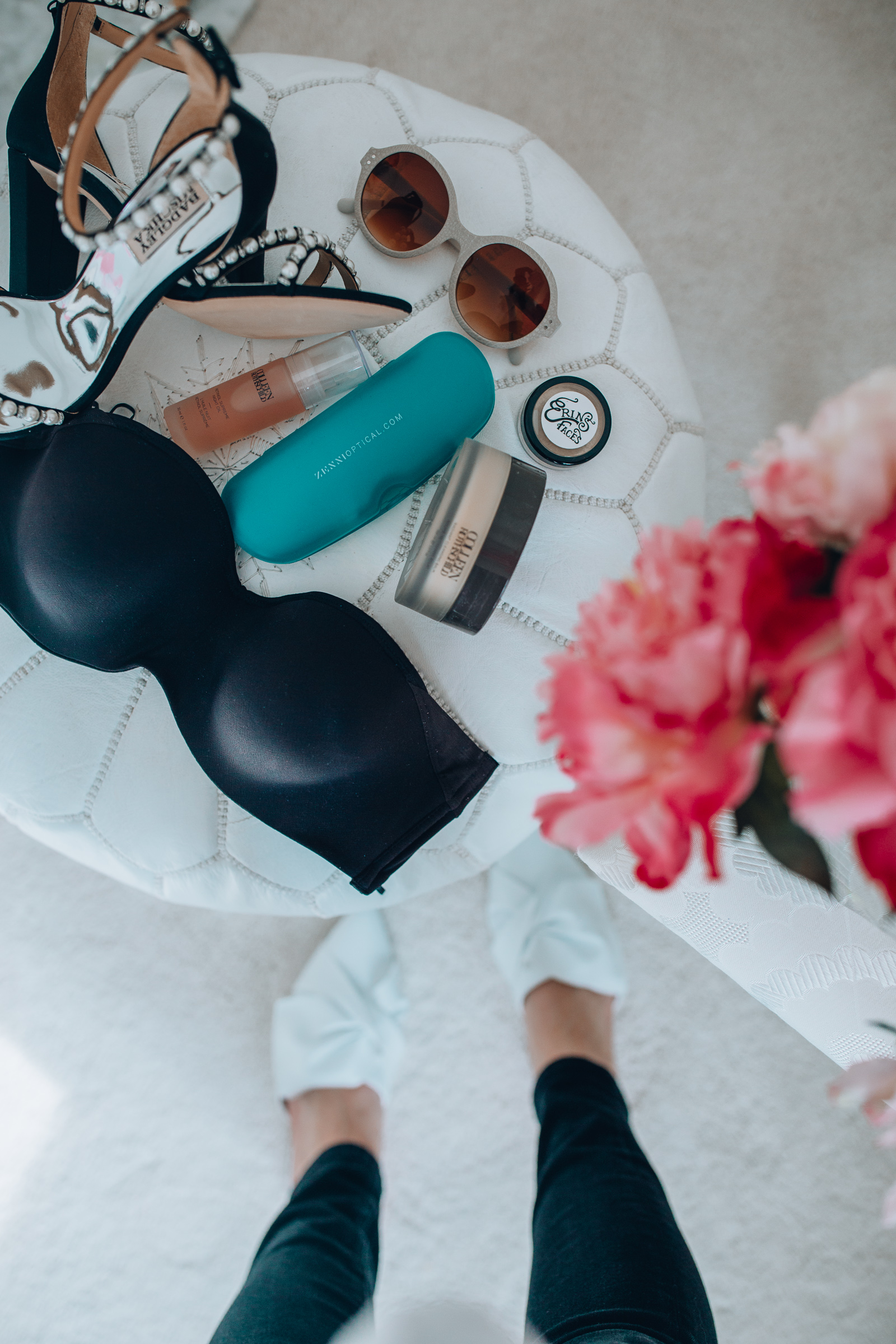 Chicago style blogger shares 6 spring items that shes currently loving, including: rothschild beauty, badgley mischka pearl shoes, vegan makeup & more!