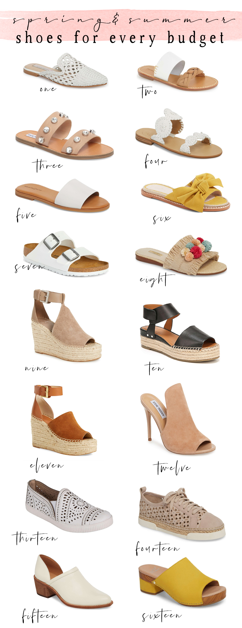 Chicago fashion blogger Happily Inspired is sharing the best spring and summer shoes at every budget! Espadrilles, sandals, sneakers and more.