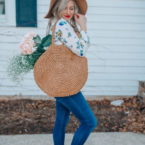 circle straw bag under 100