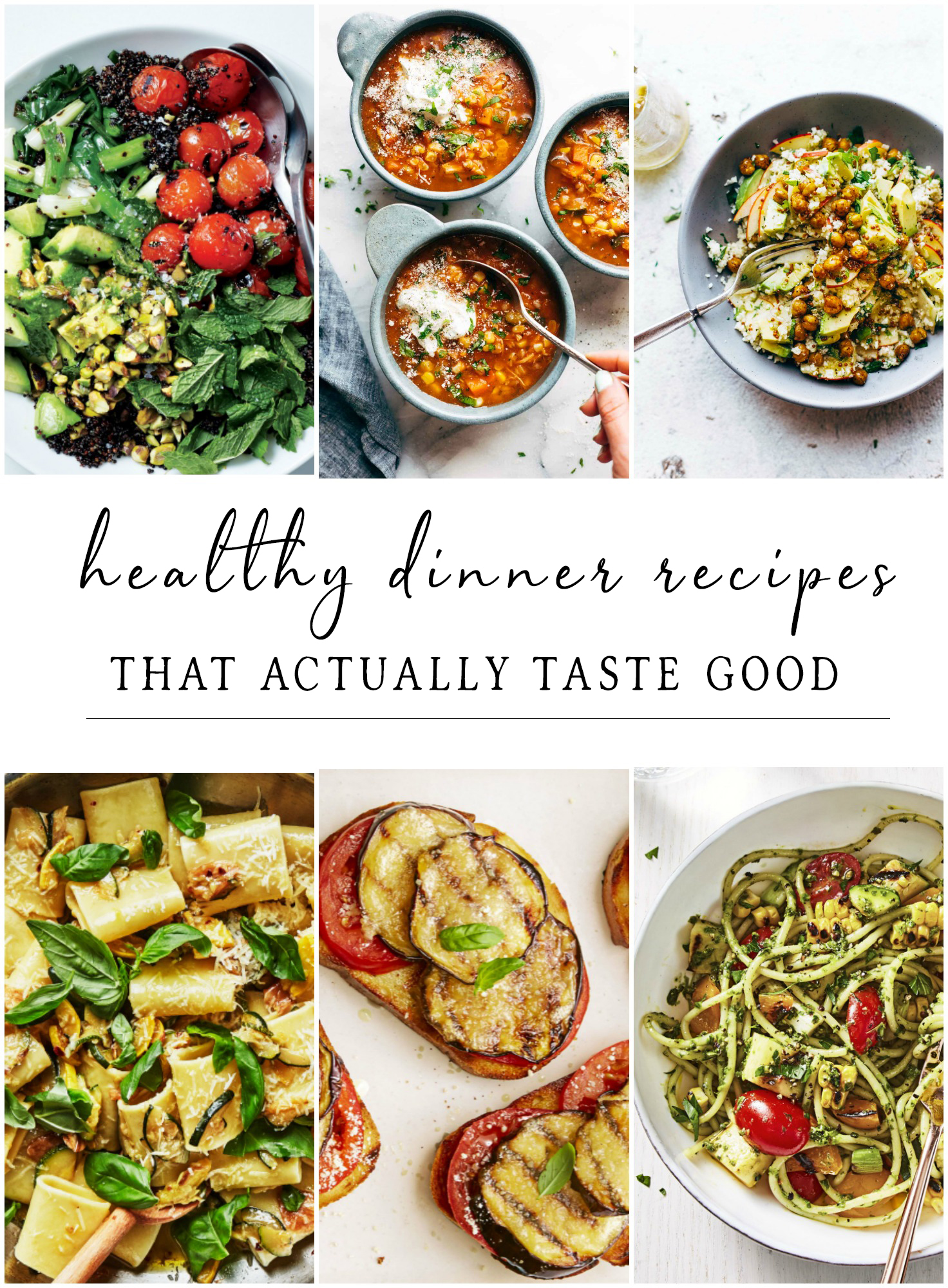 Easy healthy dinner recipes for Summer or even as early as Spring from Chicago lifestyle blogger Happily Inspired. These recipes taste great!