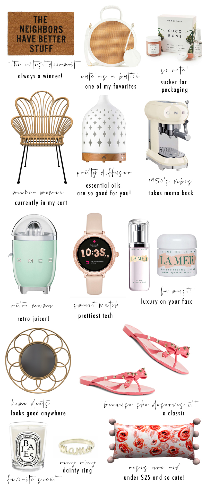 Chicago lifestyle blogger Happily Inspired is sharing the best practical Mothers Day Gifts for Every Budget! From skincare to home decor!