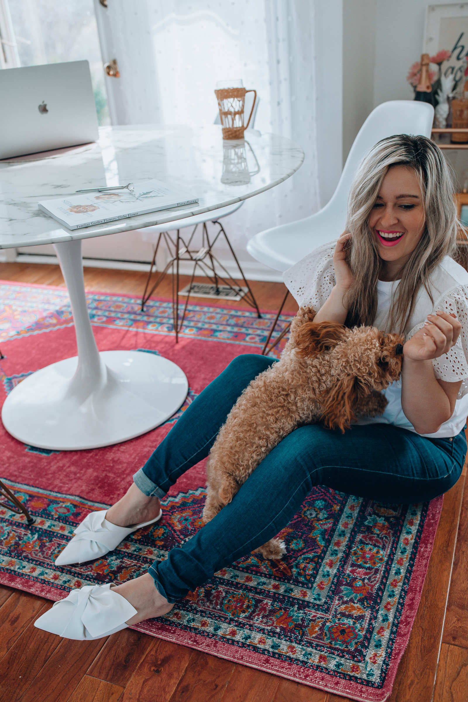Chicago lifestyle blogger, Happily Inspired shares how to transform your entire kitchen with this simple trick! Plus, a list of the best walmart kitchen rugs!