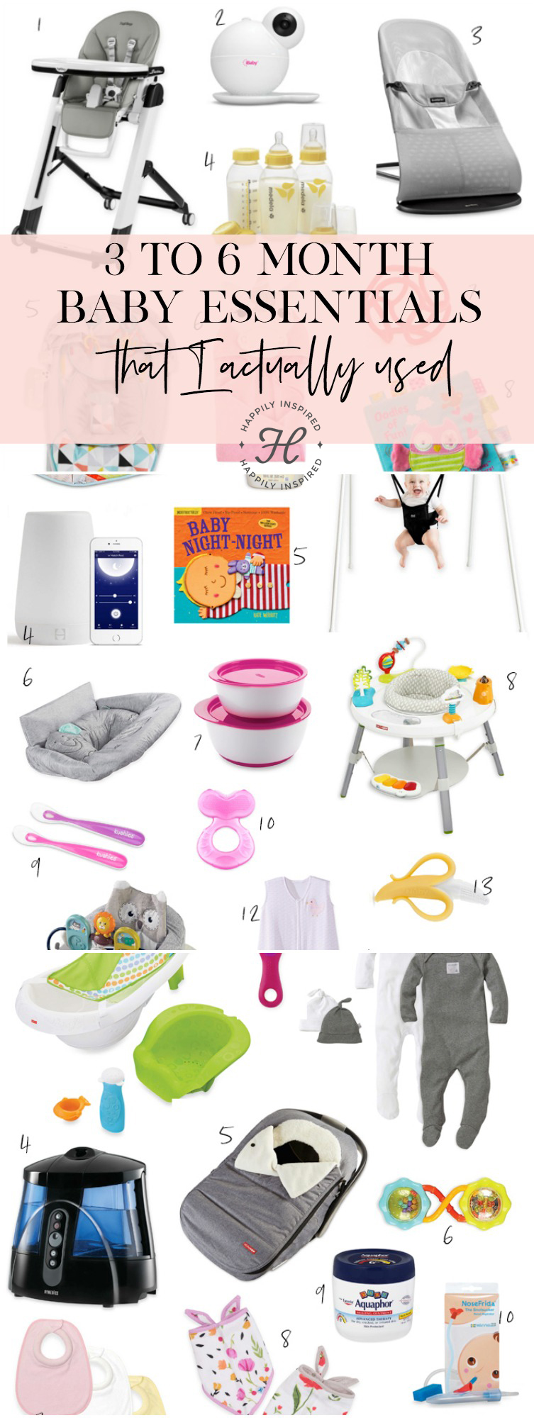 3-6 baby month essentials