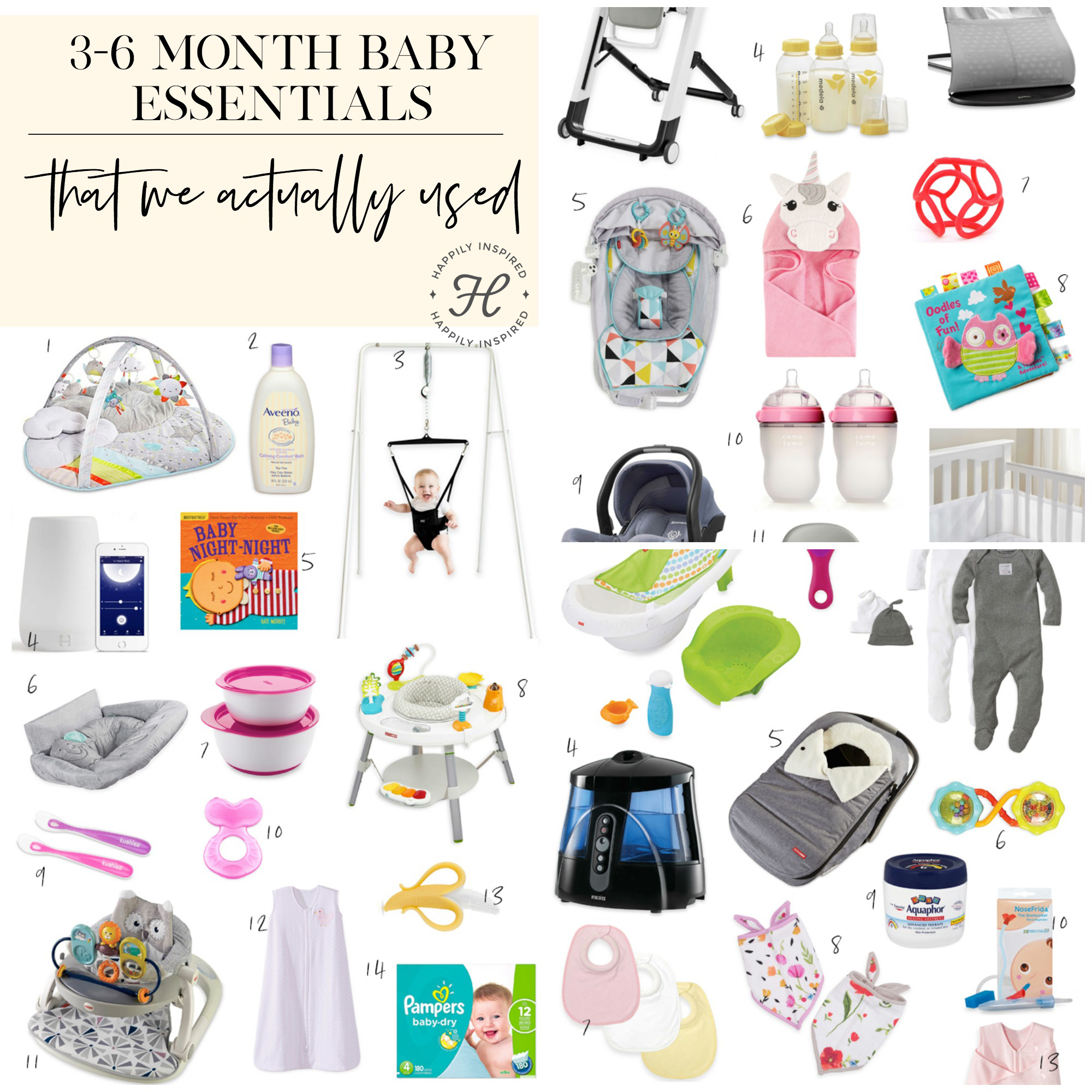 3 to 6 month baby favorites
