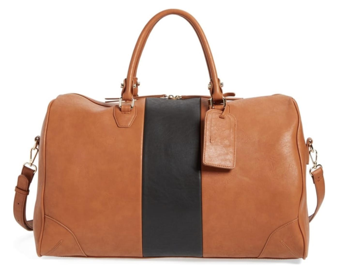 a901e2b629  Robin  Faux Leather Weekend Bag