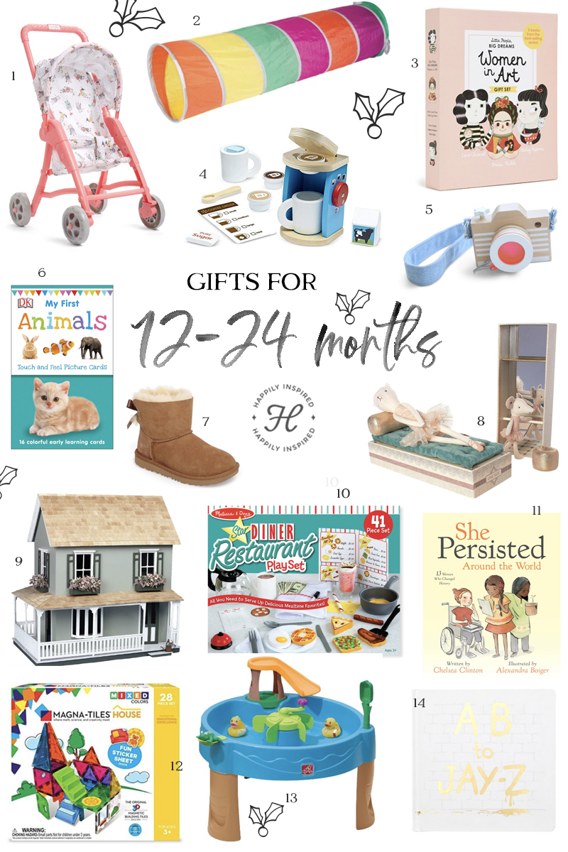 12 to 24 month gift ideas, christmas gift ideas, holiday gift guide 2018