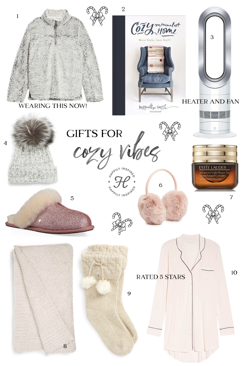 cozy gift guide, christmas gift ideas, holiday gift guide 2018