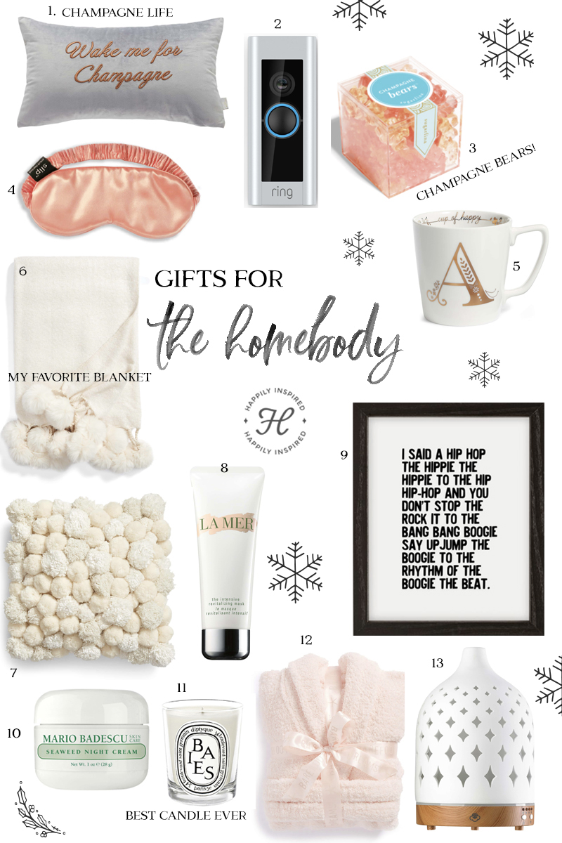 homebody gift guide, christmas gift ideas, holiday gift guide 2018
