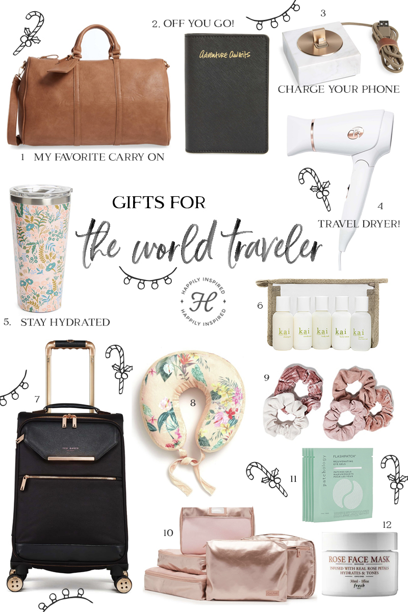 travel gift guide, christmas gift ideas, travel gifts, traveler gifts, holiday gift guide 2018