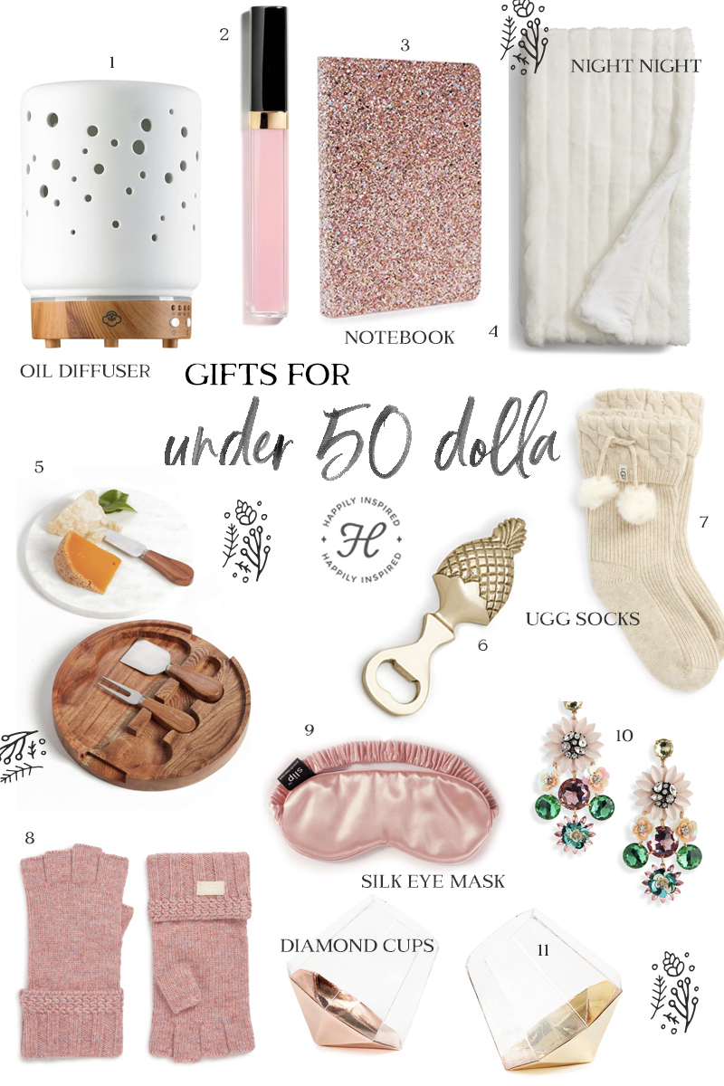 under 50 gifts, under $50 gift ideas, christmas gift ideas, holiday gift guide 2018