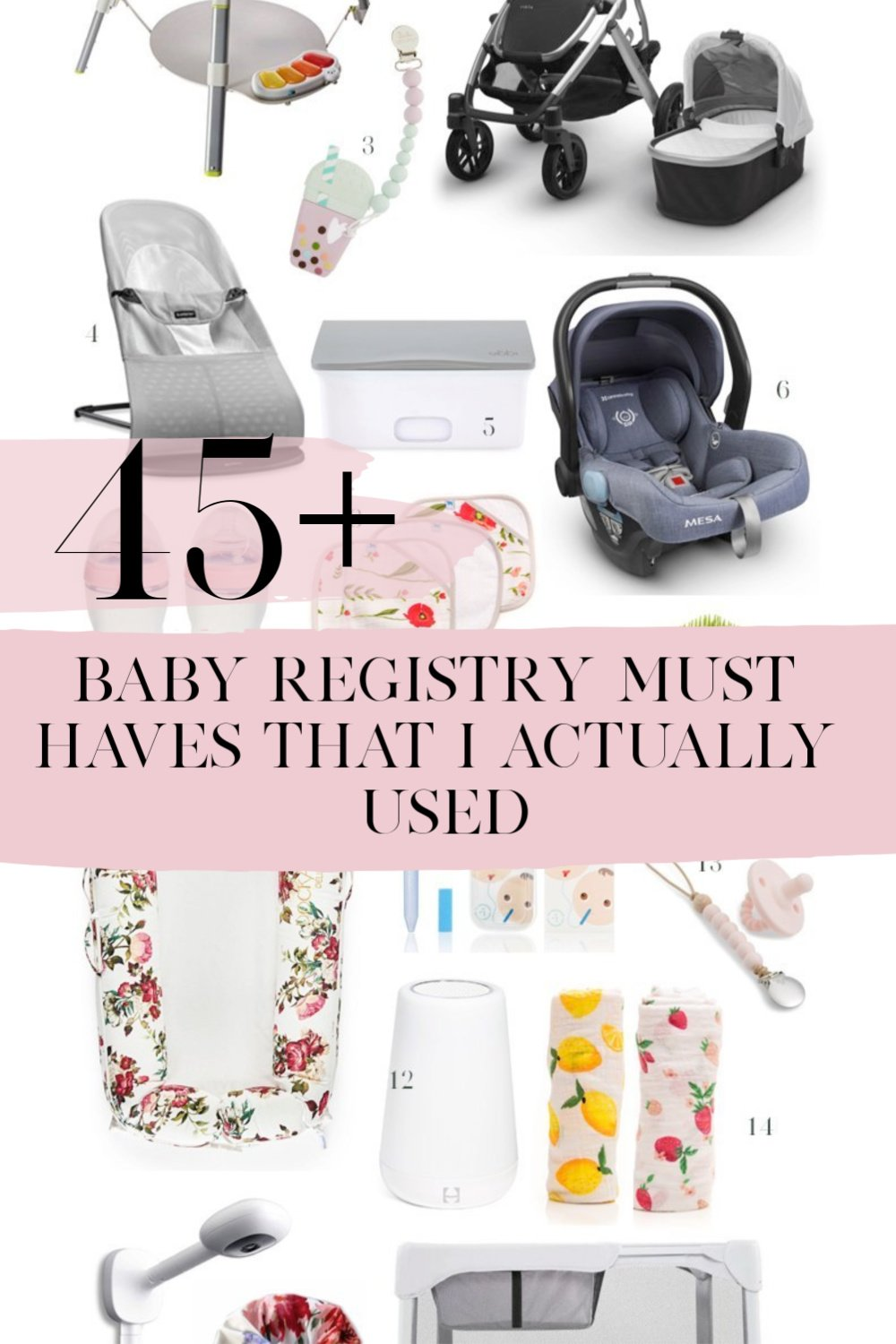 baby must haves, baby registry must haves, baby girl must haves