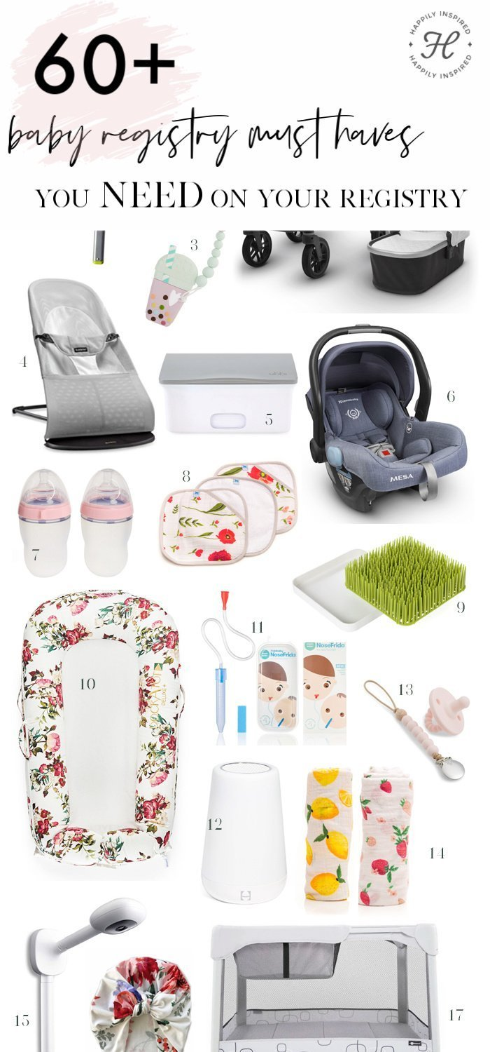 Baby Registry Must Haves | Baby Must Haves | Happily Inspired