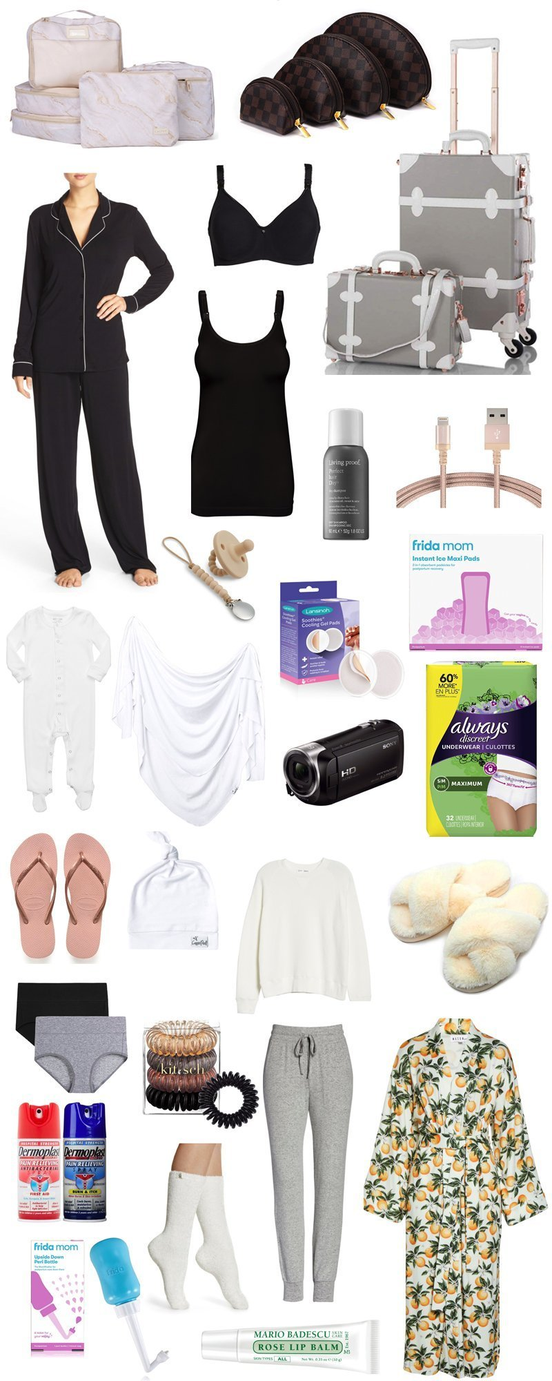 what to pack in hospital bag, what to pack in hospital bag for mom, what to pack in hospital bag for baby