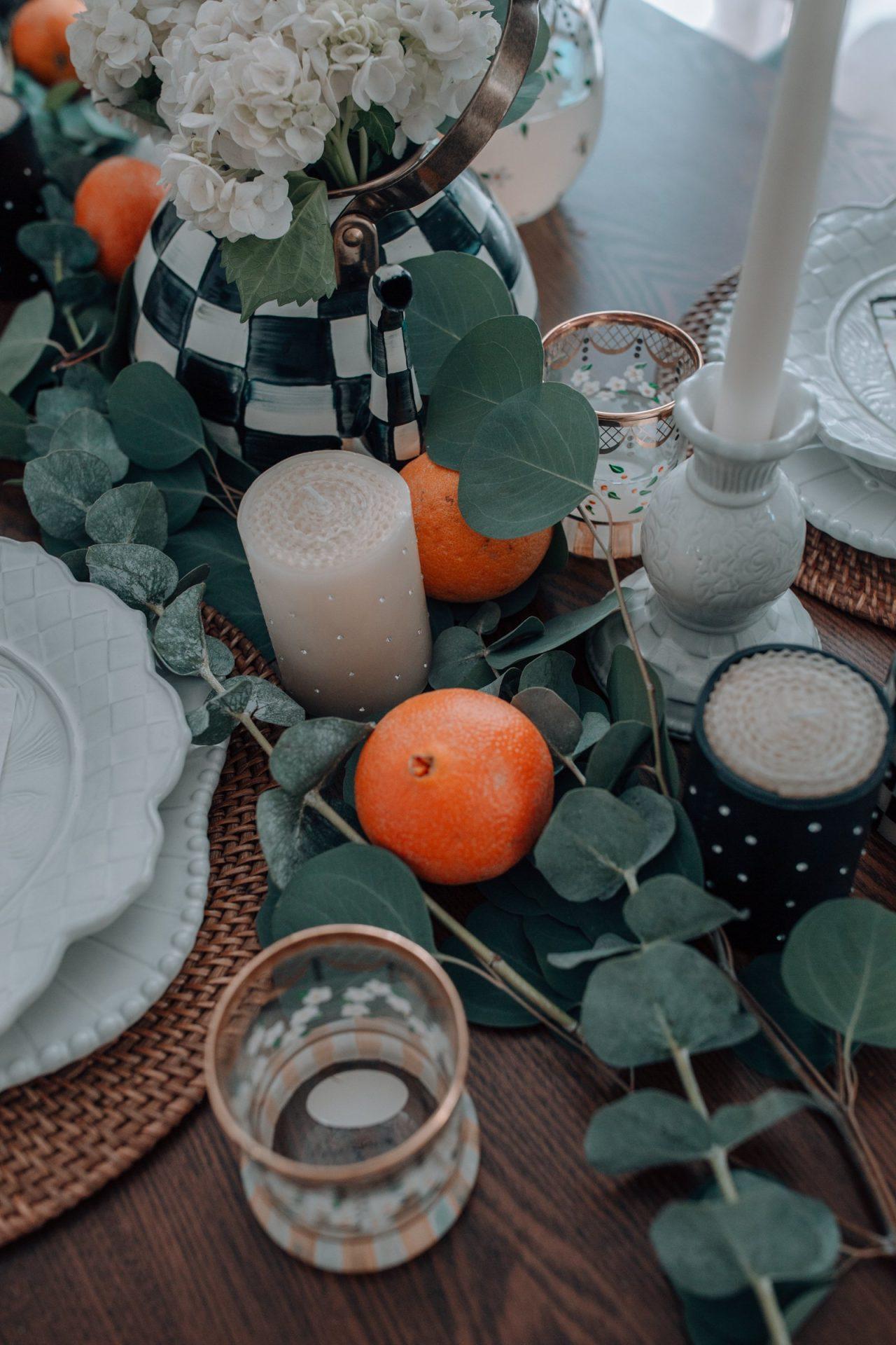 summer tablescape, fruit tablescape ideas